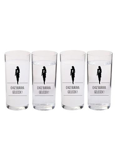 4 Lü İçelim Bardak Seti O Kız Buraya Gelecek-Joy Glass